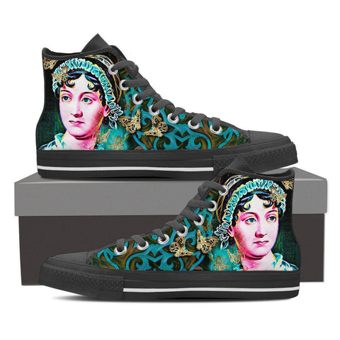 Women's Jane Austen High Tops - Teal
