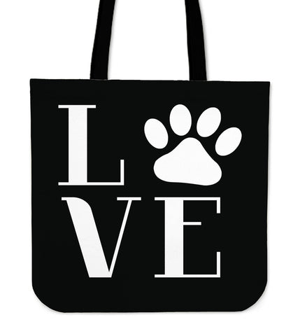 I Love Dogs Tote Bag - Dog Themed Tote Bag - I Heart Dogs Tote Bags