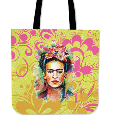 Frida Kahlo Yellow Canvas Tote