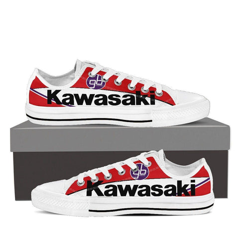 Men's Red Kawasaki GBmoto Low Tops - White