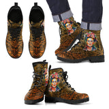 Men's Frida Kahlo Black and Gold Boots