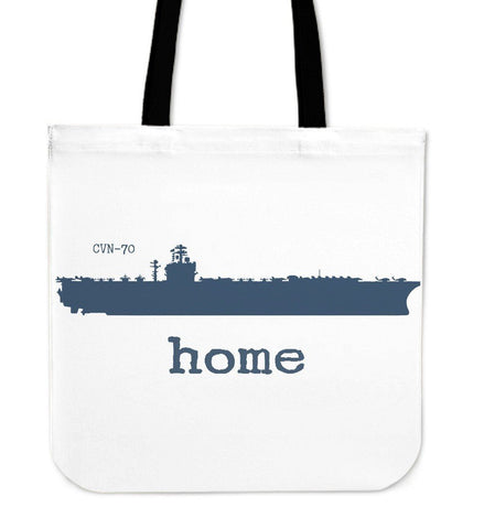 Navy Aircraft Carrier Home Canvas Tote