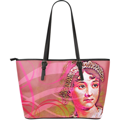 Jane Austen Pink Large Leather Tote