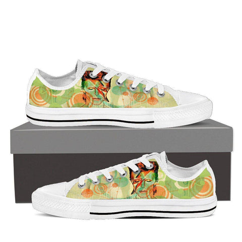 Women's Green David Bowie Tribute Low Tops