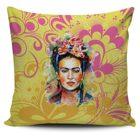 Frida Kahlo Yellow Pillow Cover