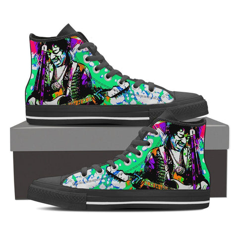 Men's Jimi Hendrix High Tops - Green