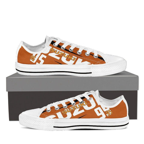 Men's Suzuki GSXR Orange Low Tops - White