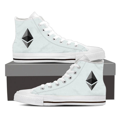 Cryptocurrency Ethereum Men's High Tops | HODL On For Dear Life