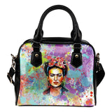 Frida Kahlo Paint Splatter Purse