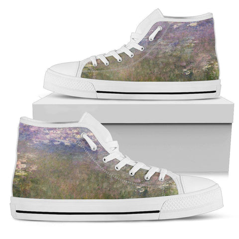 Water Lilies Men's High Top Shoes