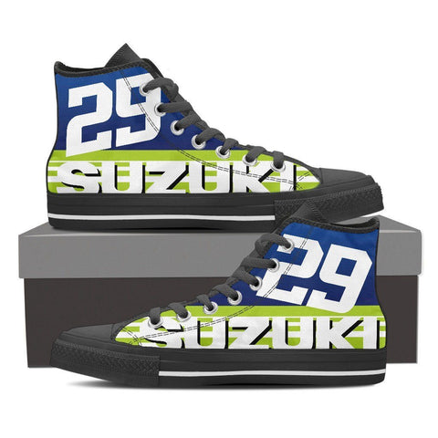 Men's Suzuki GSXR Green High Tops