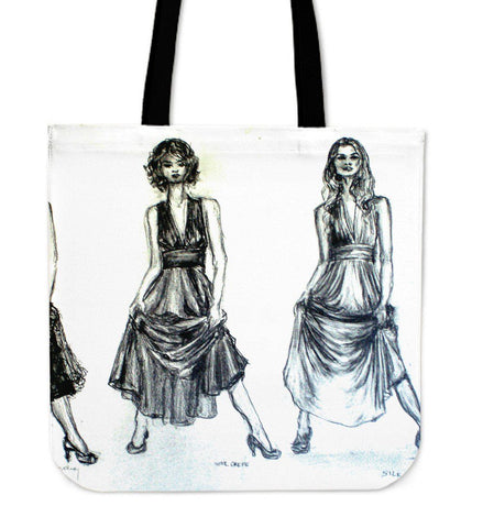 Fashion Sketch Canvas Tote