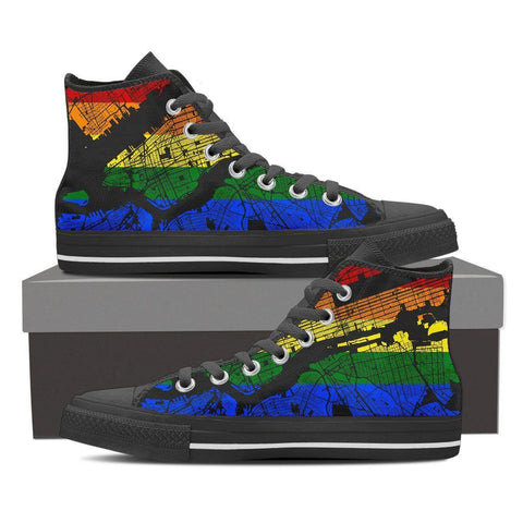 NYC Map #Pride Men's High Top
