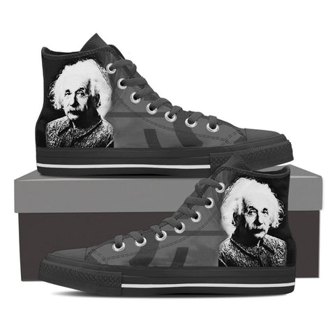 Men's Einstein Black and White High Tops
