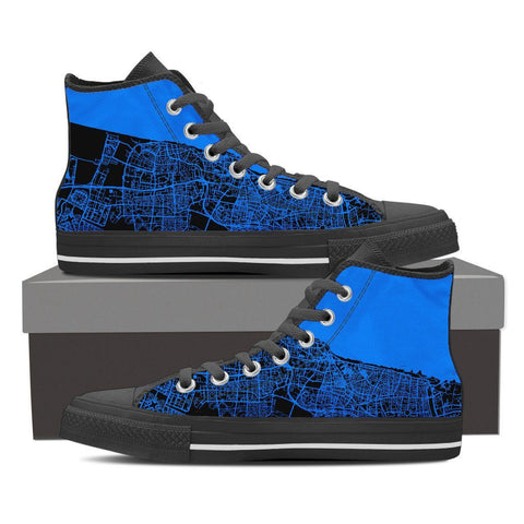 Women's Tel Aviv Map High Top - Blue