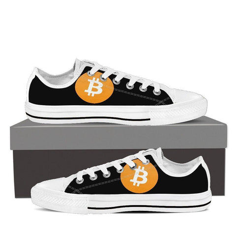 Cryptocurrency Bitcoin Men's Low Tops | HODL On For Dear Life