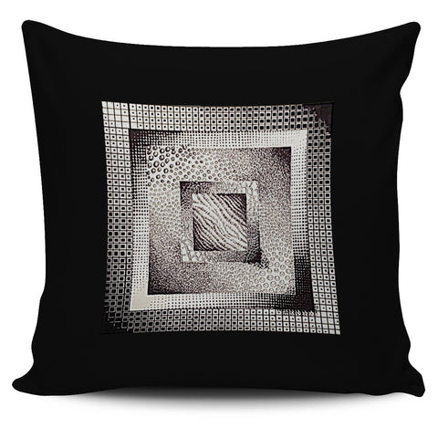 Optical Textured Squares Pillow Cover