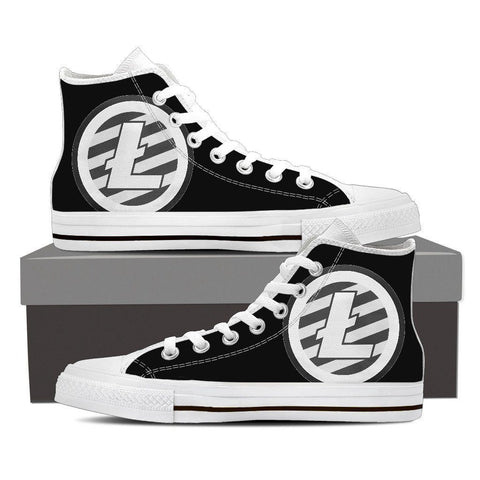 Cryptocurrency Litecoin Men's High Tops | HODL On For Dear Life