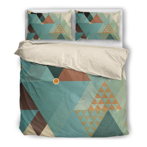 Retro Patchwork Triangles Duvet Set