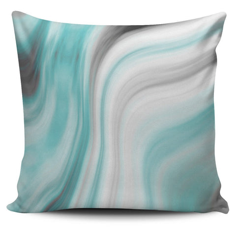 Blue Marble Pillow Cover