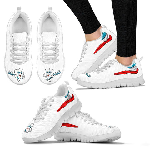Women's Dentist Dental Tooth Brush Sneakers