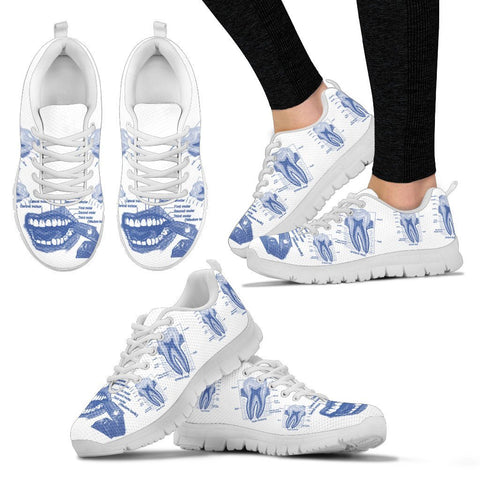Women's Dentist Medical Drawing Dental Sneakers