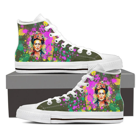 Women's Frida Kahlo Paint Splatter High Tops