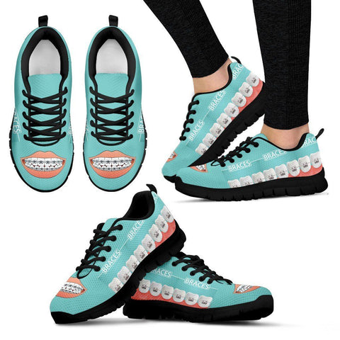 Women's Dental Dentist Orthodontist Braces Sneakers
