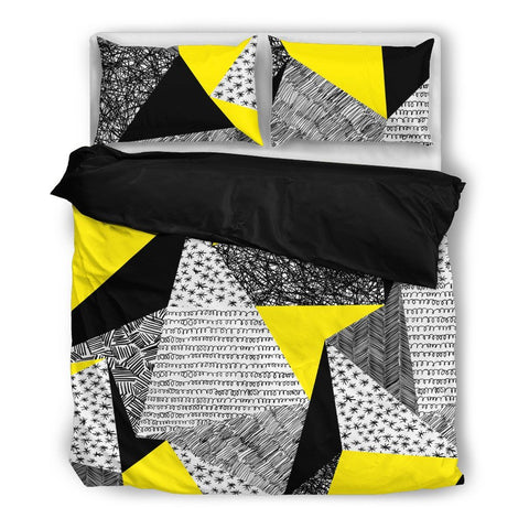 Hand Drawn Geometric Duvet Set