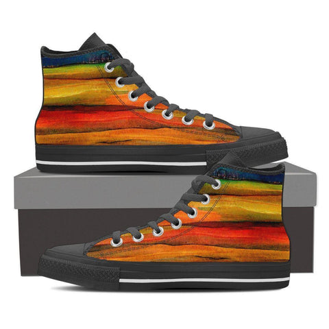Men's Painted Stripe High Top