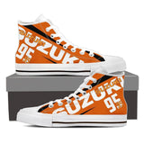 Men's Suzuki GSXR Orange High Tops - White