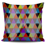 Bold Colored Triangles Pillow Cover