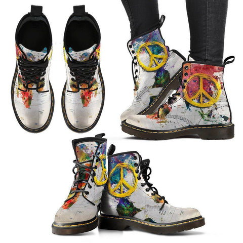 Women's World Peace Eco-Leather Boots