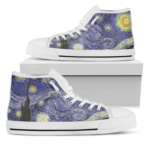 Starry Night Men's High Top Shoes