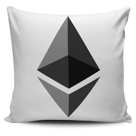 Cryptocurrency Ethereum Pillow Cover | HODL On For Dear Life