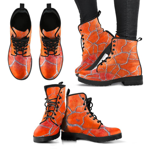 Women's Orange Fall Leaves Boots