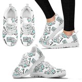 Women's Dentist Dental Cartoon Sneakers