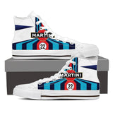 Men's Martini Racing Inspired High Top Shoes White