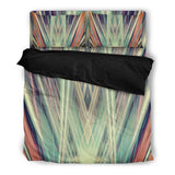 Art Deco Green Duvet Set