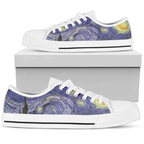 Starry Night Men's Low Top Shoes