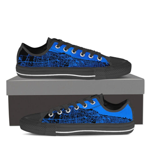 Men's Tel Aviv Map Low Top - Blue