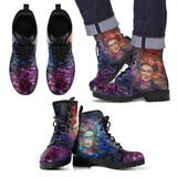 Men's Frida Kahlo Dark Purple Boots