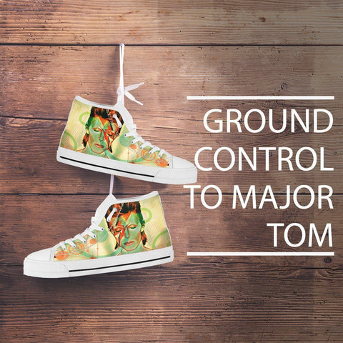 Green David Bowie Tribute Men's High Tops