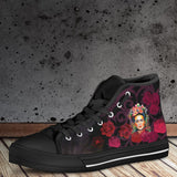 Women's Frida Kahlo High Tops - Red Roses