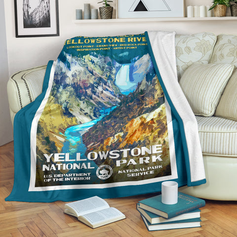 Yellowstone National Park Premium Blanket