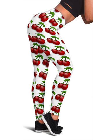 Women's Leggings - Cherries