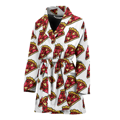 Women's Bath Robe - Pizza