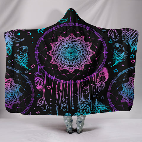 Dream Catcher Hoodie Blanket - Dream Catcher Hooded Blanket - Catching Dreams Blanket