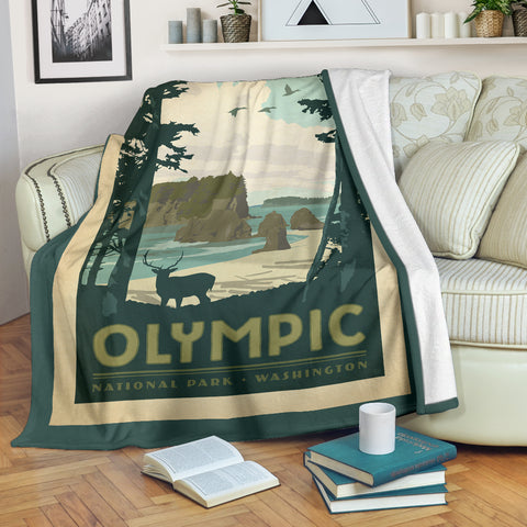 Olympic National Park Premium Blanket