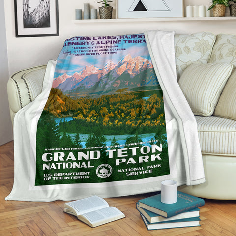 Grand Teton National Park Premium Blanket